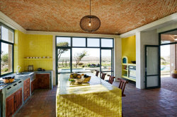 Love this mosaic inspired kitchen. So bright and warm and inviting. What do you think? Source: http://www.desiretoinspire.net/blog/2012/10/1/david-howell.html