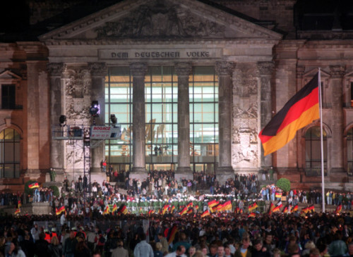 todayinhistory:  October 3rd 1990: German reunification On this day in 1990, Germany was officially reunited when the German Democratic Republic was abolished and became part of the Federal Republic of Germany. The country had been split into East and West Germany following its defeat in World War Two and was occupied by the victorious Allied powers. The USA, Britain and France controlled the West and the Soviet Union the East. The reunification saw Berlin become one city again, following the fall of the Berlin Wall dividing the city in 1989. Today is celebrated in Germany as German Unity Day.