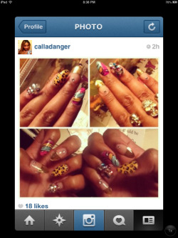 Off to Miami Carnival had to get a crazy design :)❤💅😊✌