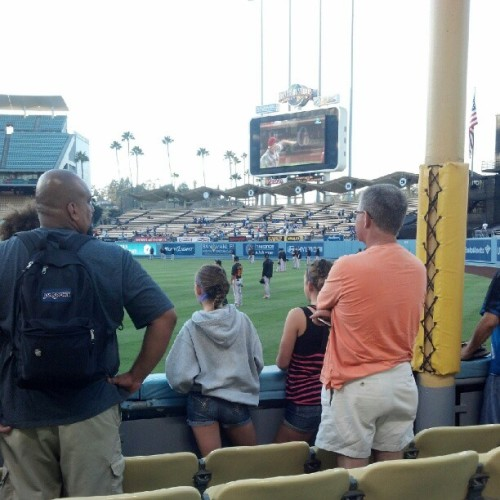 No big deal just sitting by the foul line #Dodgers  (Taken with Instagram)