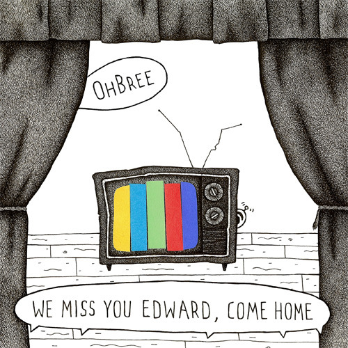 "Just finished up some cover art for OhBree's new album, ""We Miss You Edward, Come Home"". Concept of the album is that we're all watching a strange and slightly terrifying play that's happening in the mind of Edward, who is going insane. What do you think?"