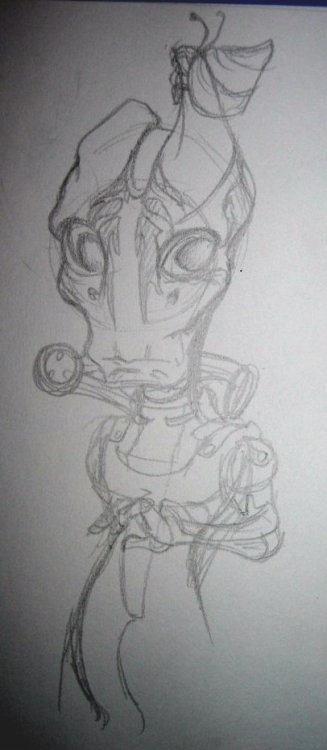 Oh. My. God. Mordin, how do I art you? Making a Salarian into Chibi style… How… How? They already have exaggerated features…. And the details of the suit… I will not give up!