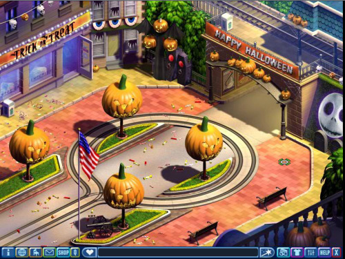 believing-impossible-things:  memoriesvmk:  Town Square- Halloween Decorations  R.I.P VMK