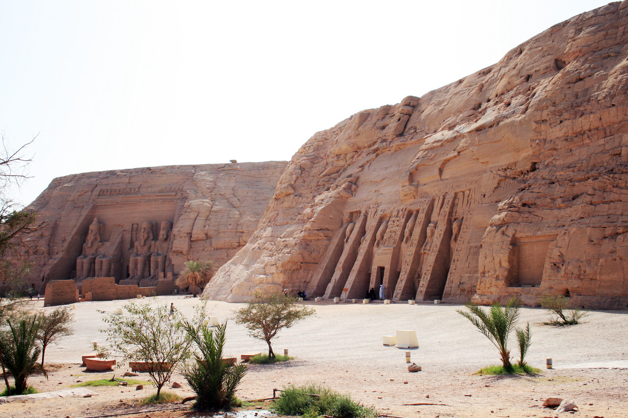 Abu Simbel temples near Aswan Dam on Nile river Egypt. Photo taken by Karelj