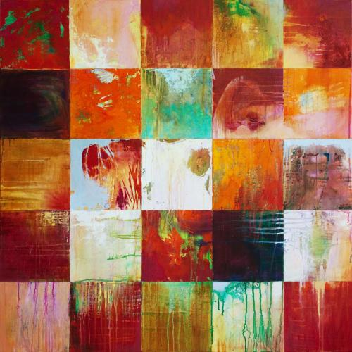 jameswyper:  When All Is Fired by Passion's Kiss, 2011 acrylic on canvas, 40x40 in