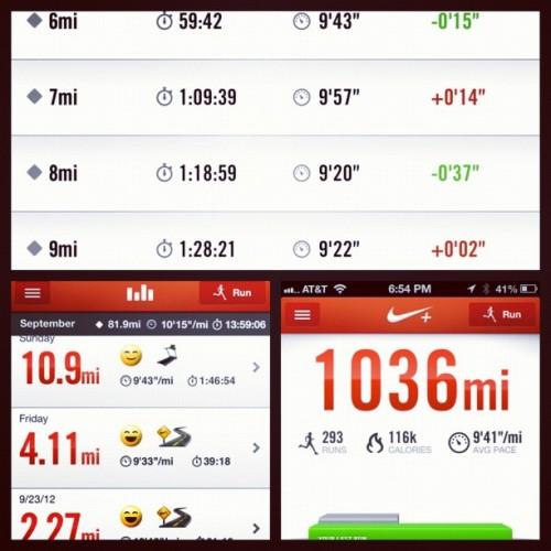 The Nike+ Running App has been a life saver during training! It gives incredible running feedback and keeps track of all my runs! #runnwm (Taken with Instagram)