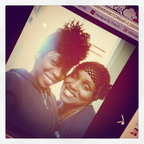 #me and @istayfitted 2 yrs ago #short #hair #naturalhair     #fro #curly #mowhaw #instahub # (Taken with Instagram)