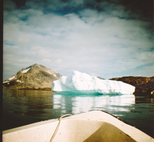 from a boat in greenland