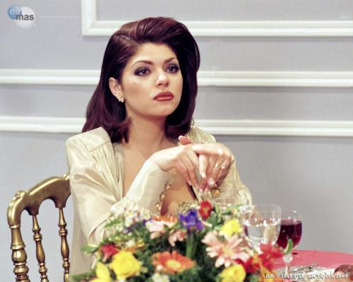 "goosetavo:  Itatí Cantoral as Soraya Montenegro de la Vega Montalban in Maria La Del Barrio. (1995)  Today I was watching TV with Ed (my boyfriend) when this actress here, Itatí Cantoral appeared on a commercial then he said ""hey, I think she's really beautiful. I like her, what do you think of her?"" I was about to reply and he quickly replied ""OF COURSE YOU THINK SHE'S BEAUTIFUL BECAUSE YOU ARE A LESBIAN""Best boyfriend."