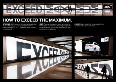 Exceed the maximum, BMW Ad