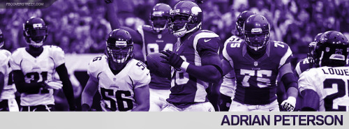 Adrian Peterson 2012 Minnesota Vikings Facebook Cover