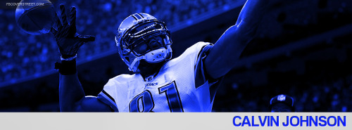 Calvin Johnson 2012 Detroit Lions Facebook Cover