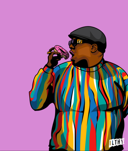 vrawdopest:  ill  Notorious B.I.G eating a donut.