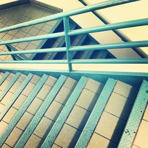 #school #crazy #style #stairs #steps #igers #instahub #instagood #instamood #blue #white #rail #down #asymmetric #art #abq #tab #tweetgram #tilted #photooftheday #psy #photo #pretty  (Taken with Instagram)