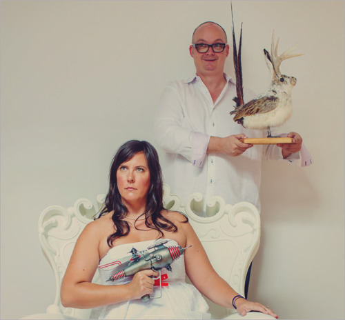 My friends Michelle and Lars take engagement photos very seriously.