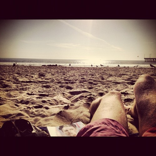 #venice #beach #lounging - #sun #ocean #waves - #tan #boy #losangeles #california #westcoast #america - #vogue #magazine - #relaxation  (Taken with Instagram)