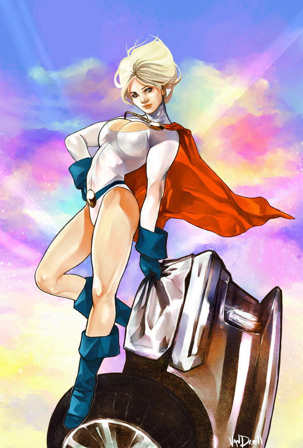 comicsforever:  Power Girl // artwork by Daniel Vendrell (2009)