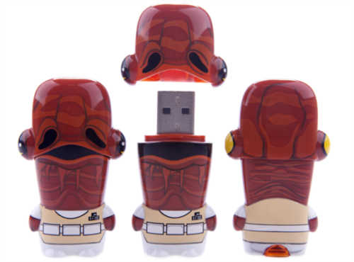 Admiral Ackbar MIMOBOT USB Drive Admiral Akbar hates the Empire and he hates being surprised by operational shield generators! What he doesn't hate is storing all your docs, music, pics & more! Command the fleet of all your most important data and files with your Admiral Akbar MIMOBOT. With a flash drive design this cool, you can't resist, can you? You might even say, it's a trap…! Available from $19.99(8Gb)-69.95(64Gb) @Mimoco