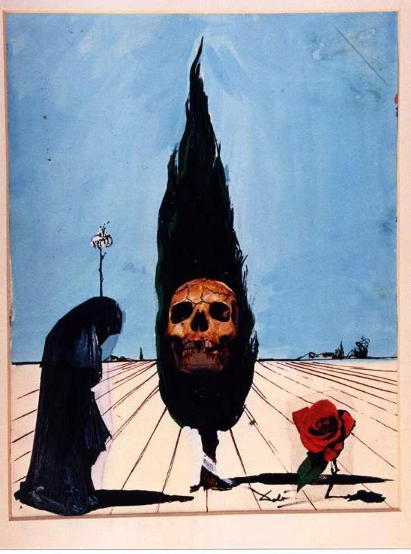 unknownpleasure:  The Death card from Salvador Dali's Universal Dali Tarot deck