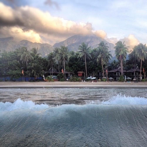 Wave back  (Taken with Instagram at Daluyon Beach and Mountain Resort)