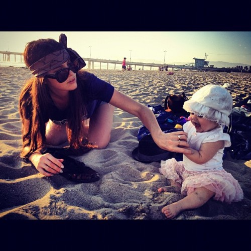 #baby #stop #eating #sand - #sexy #brunette #mother - #ring #bling - #venice #beach #california #pier - #luxury #living  (Taken with Instagram)
