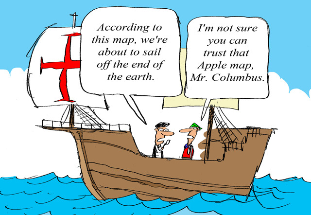 If Christopher Columbus Had Apple Maps (via Times New Geek)
