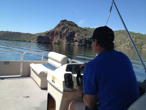 O Captain, My Captain! Iceberg straight ahead! #SaguaroLake #AcouplereasonswhyiloveAZ :)