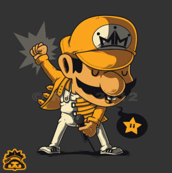 geeksngamers:  Mario Mercury - by Ruel Jun Andaya Vote for the design on Threadless