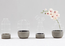 Wow, loves these interesting vases for more delicate flowers… Thoughts? Source: http://www.dezeen.com/2012/10/02/v4-vases-and-lamps-by-seung-yong-song/