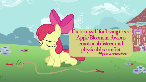 I hate myself for loving to see Apple Bloom in obvious emotional distress and physical discomfort