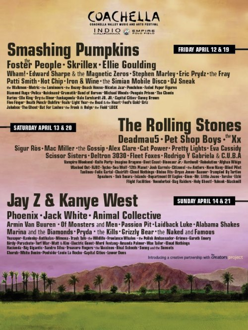 have you guys seen this coachella lineup, it's from the same source that leaked it last year and was correct. PLEASE BE REAL THIS IS KILLER.