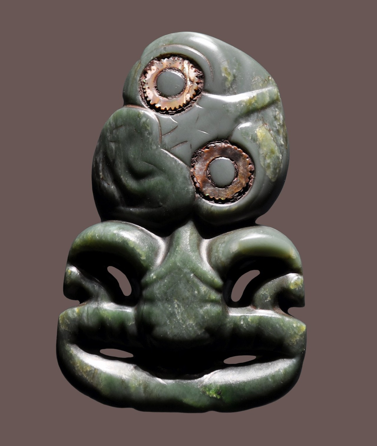Maori greenstone pendant, New Zealand.
