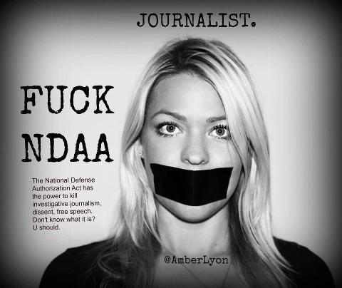 """Dear President Obama, This is how journalists feel about NDAA. Please keep your promise and repeal it."""