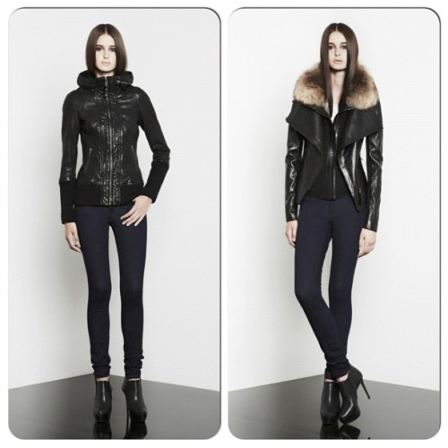 Or should I get the #leather #mackage jackets?! Which one do you like, the #mackagemalu (right) has a hood (I ❤ hoods!) or the #mackagejora (left) which has detachable vest?!? #choices sooo hard! I ❤ them all!! #wants#fashion#splurge - #mzlilslife  (Taken with Instagram)