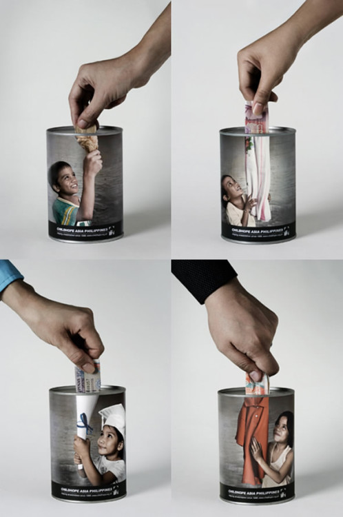 Childhope Donation Cans by BBDO Guerrero