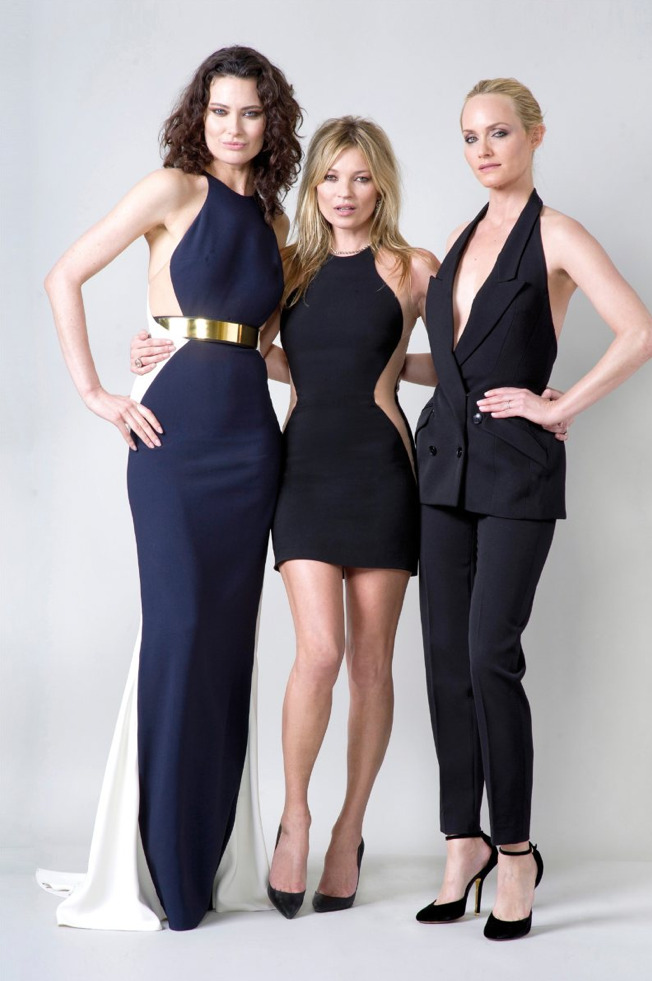 Shalom Harlow, Kate Moss, & Amber Valletta - Stella McCartney F/W 2012 Evening Collection