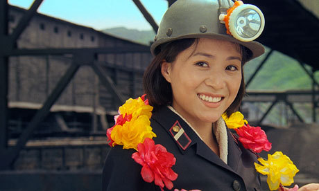 Han Jong Sim, the star of Comrade Kim Goes Flying, the first North Korean film to screen at the South Korean festival since 2003. The movie, about a young woman who runs off to join the circus as an acrobat, won the award for best director at the two-yearly Pyongyang international film festival last month.  Photograph: AP