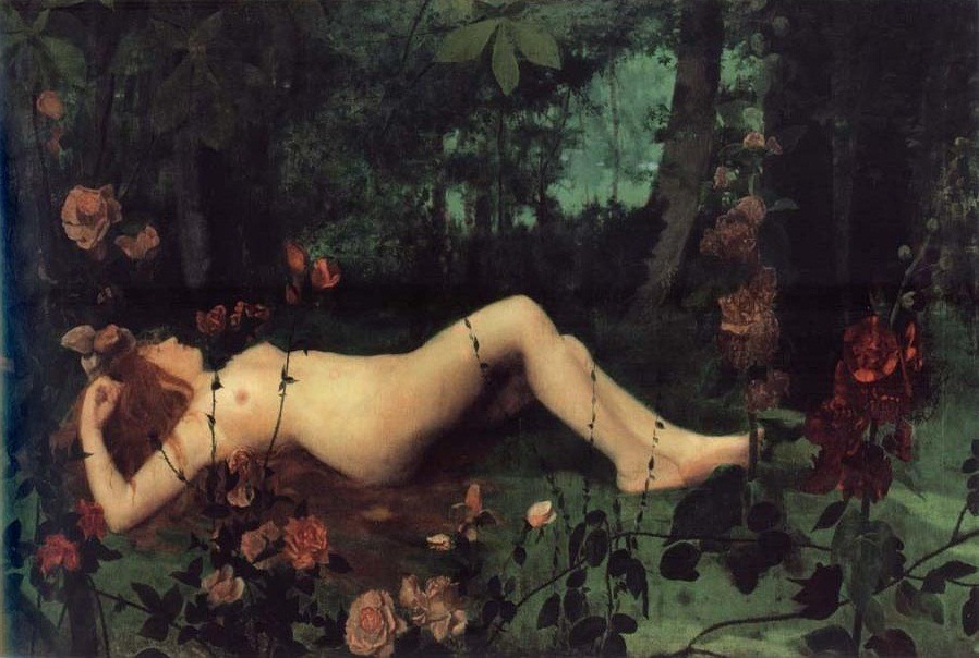 oldroze:   The Nymph 1886 William Stott-of-Oldham (1857–1900)
