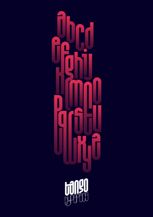 Tango Typeface Available here