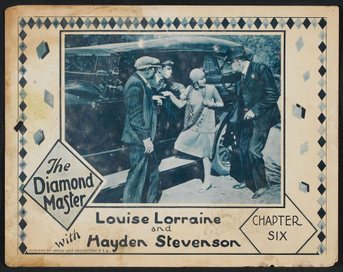 lostsilentfilms:  Lobby card for The Diamond Master (1929). Sold here.