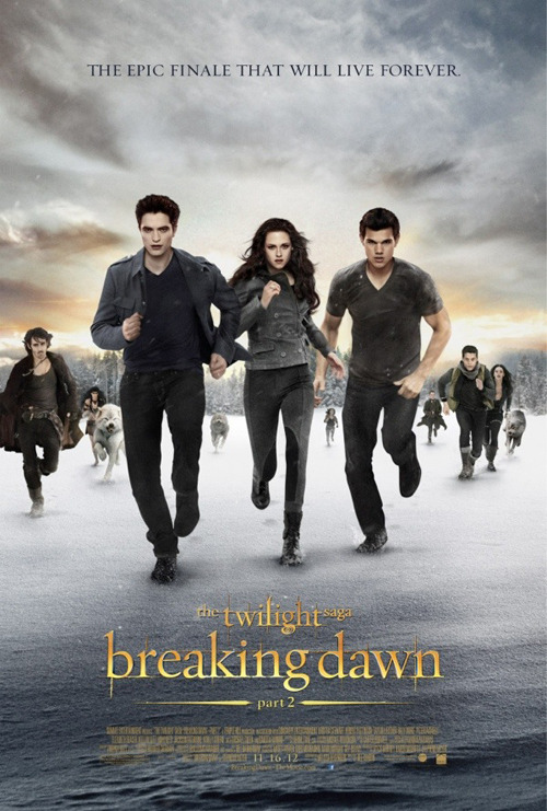 Final poster for The Twilight Saga: Breaking Dawn Part 2 The curtain prepares to fall on The Twilight Saga once and for all