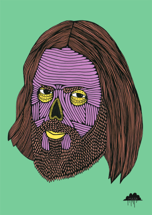 eatsleepdraw:  © Mulga 2012, Zombie Reece, Acrylic paint and Posca on Paper, 30 x 40 cm Buy a print of this / Facebook / Tumblr / Website