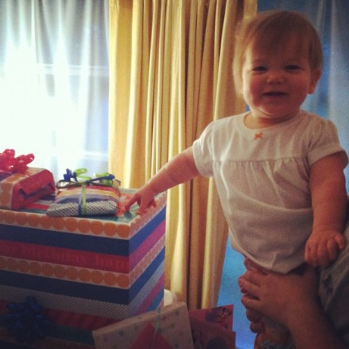 1st birthday girl, in the morning. (Taken with Instagram)