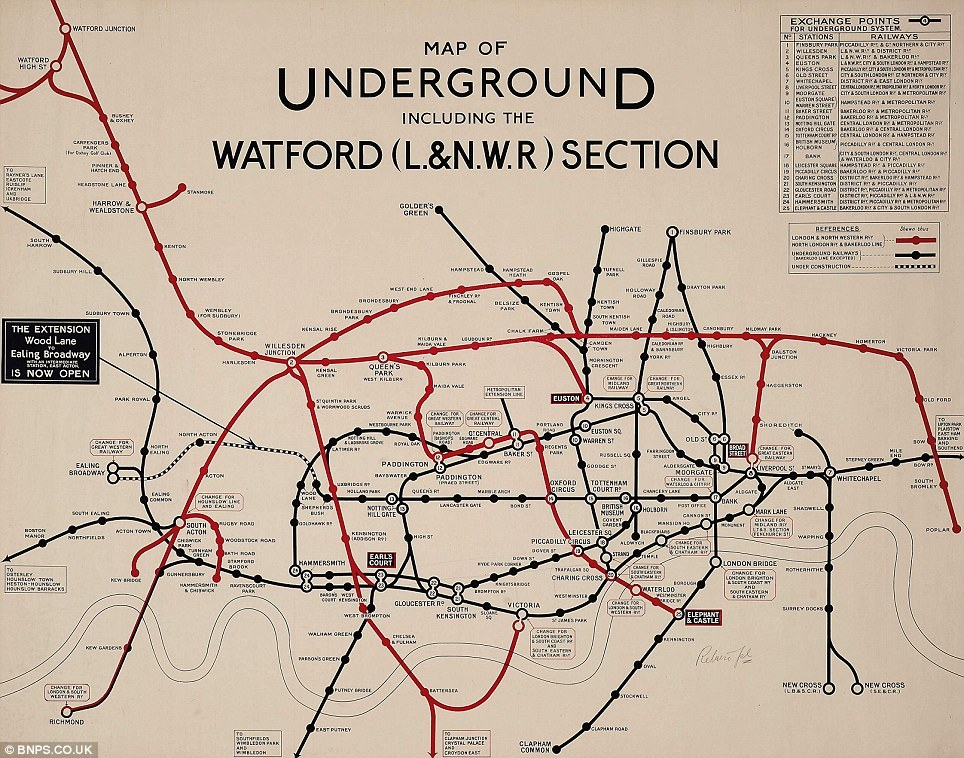"ryanovereem:  A collection of underground maps… Rad. All maps via DailyMail  Great set of maps, including a couple I haven't seen before (from 1919 - shown above - and 1926). However, the ""article"" that accompanies them is possibly the worst piece of writing I have ever seen from a recognised national newspaper. Is this what journalism has come to?"