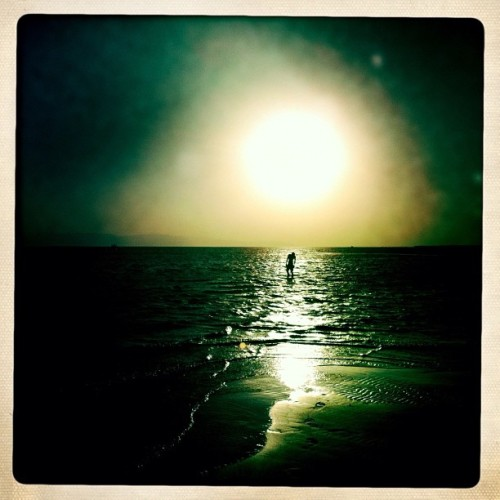 Sunset along the coast of Sinai, Egypt - 6/8/2012 photo @laurael_tantawy #egypt #sinai #iphonephotography #sunset #beach (Taken with Instagram)