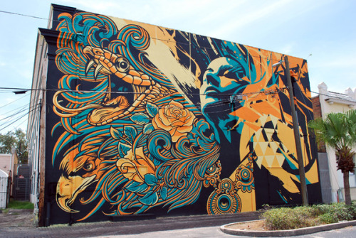 State Theatre (in St. Petersburg, Florida ) Mural by Pale Horse x Tes One |  Pretty damn awesome mural.