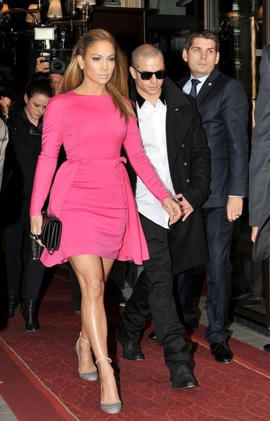 Splurge: Jennifer Lopez's Valentino Spring 2013 Fashion Show Valentino Crystal Covered Tango Stiletto Pumps and Va Va Voom Noir Small Flap Bag