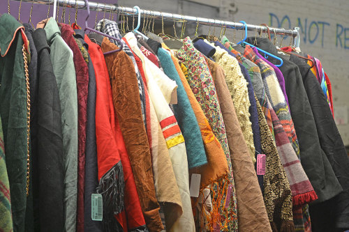 We'll be putting out an entire rack of capes today! There are some Vintage (even one or two from the 1940's!), 60's/70's, 80's/90's, and some Contemporary!