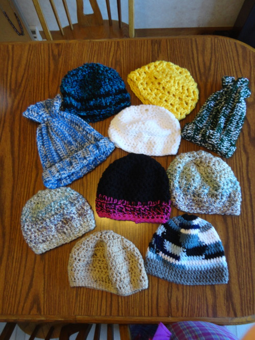 Some of my adult and child sized hats!