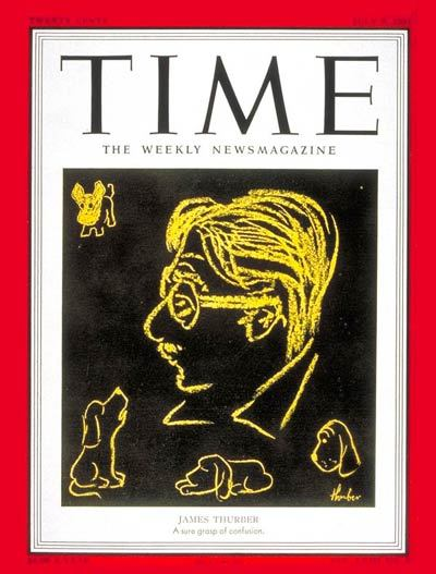 James Thurber on the cover of Time, July 9, 1951.